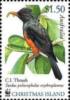 [Endangered Species - Christmas Island Birds, type RN]
