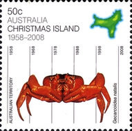 [Christmas Island - 50th Anniversary as a Territory, type XA]