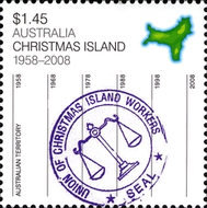 [Christmas Island - 50th Anniversary as a Territory, type XD]