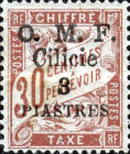[French Postage Due Stamps Surcharged & Overprinted