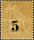 [French Colonies, General Issues Postage Stamps Surcharged, type A]