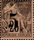 [French Colonies, General Issues Postage Stamps Surcharged, type A4]