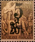 [French Colonies, General Issues Postage Stamps Surcharged, type A5]
