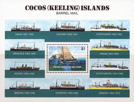 [The 75th Anniversary of the Cocos Barrel Mail, type ]