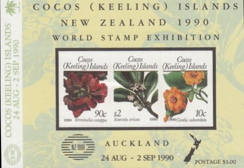 """[International Stamp Exhibition """"New Zealand 1990"""" - Issue of 1988 Overprinted with Logo and """"NEW ZEALAND 1990 24 AUG 2 SEP AUCKLAND"""", type ]"""