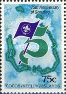 [The 75th Anniversary of the Boy Scout Movement, type CI]