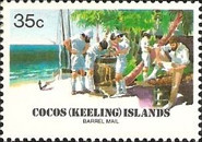 [The 75th Anniversary of the Cocos Barrel Mail, type DK]