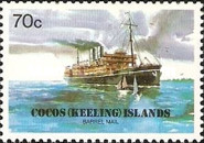 [The 75th Anniversary of the Cocos Barrel Mail, type DM]