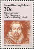 [The 375th Anniversary of the Discovery of Cocos Islands, type DO]