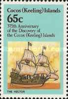 [The 375th Anniversary of the Discovery of Cocos Islands, type DP]