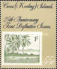 [The 25th Anniversary of the First Cocos Islands Stamps, type GK]