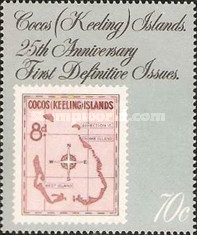 [The 25th Anniversary of the First Cocos Islands Stamps, type GM]