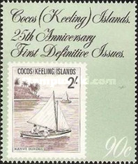 [The 25th Anniversary of the First Cocos Islands Stamps, type GN]