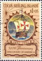 [The 500th Anniversary of the Discovery of America by Columbus, type JF]
