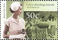 [The 50th Anniversary of the Royal Tour to Australia - Visit of Queen Elizabeth II to Cocos Island, type OZ]
