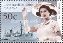 [The 50th Anniversary of the Royal Tour to Australia - Visit of Queen Elizabeth II to Cocos Island, type PA]