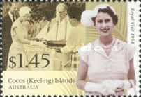 [The 50th Anniversary of the Royal Tour to Australia - Visit of Queen Elizabeth II to Cocos Island, type PC]