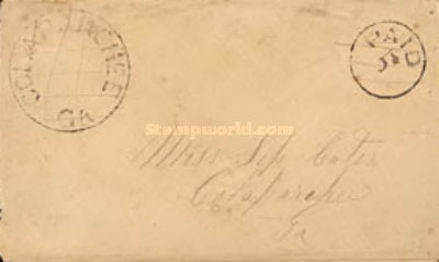[Handstamped Envelope - With Control Stamp, Typ A]
