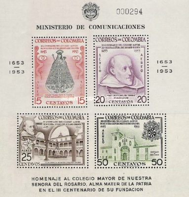 [Airmail - The 300th Anniversary of Senior College of Our Lady of the Rosary, Bogota, Typ ]