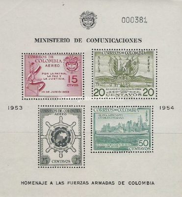 [Airmail - Greater Colombia Merchant Marine Commemoration, Typ ]