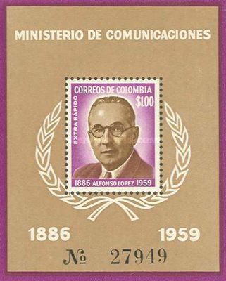 [Airmail - The 75th Anniversary of the Birth of Alfonso Lopez, 1886-1959, Typ ]
