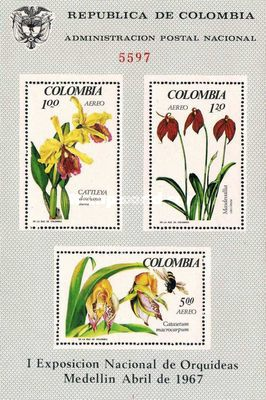 [Airmail - National Orchid Congress and Tropical Flora and Fauna Exhibition, Medellin, Typ ]