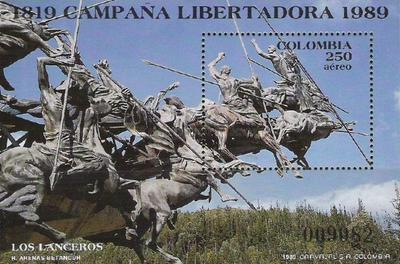 [Airmail - The 170th Anniversary of the Beginning of the Liberation Campaign of Simon Bolivar, Typ ]