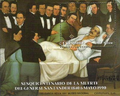 [Airmail - The 150th Anniversary of the Death of Francisco de Paula Santander, 1792-1840, тип ]
