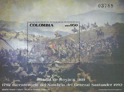 [Airmail - The 200th Anniversary of the Birth of Francisco de Paula Santander, 1792-1840, Typ ]