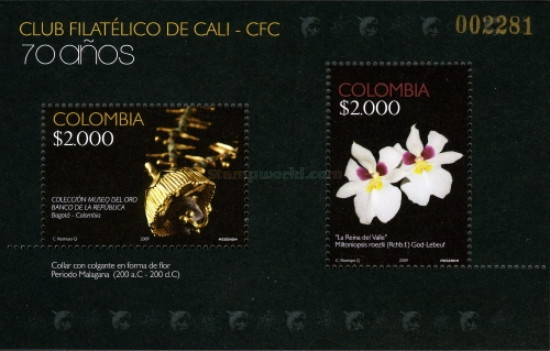[The 70th Anniversary of Cali Philatelic Association, Typ ]