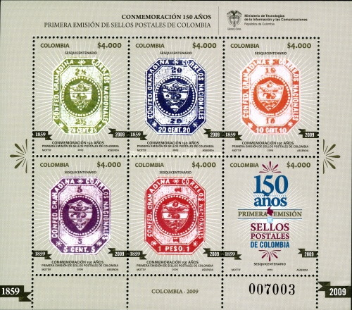 [The 150th Anniversary of the First Postage Stamps of Colombia, Typ ]