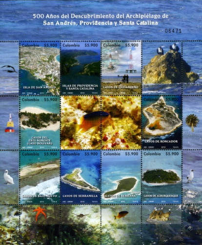 [The 500th Anniversary of the Discovery of the Archipelago of St Andres, Providence and St Catherine - Isla de San Andres, Typ ]