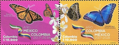 [Butterflies - Mexico-Colombia Year, Typ ]