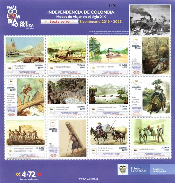 [The 200th Anniversary of the Independence of Colombia, type ]