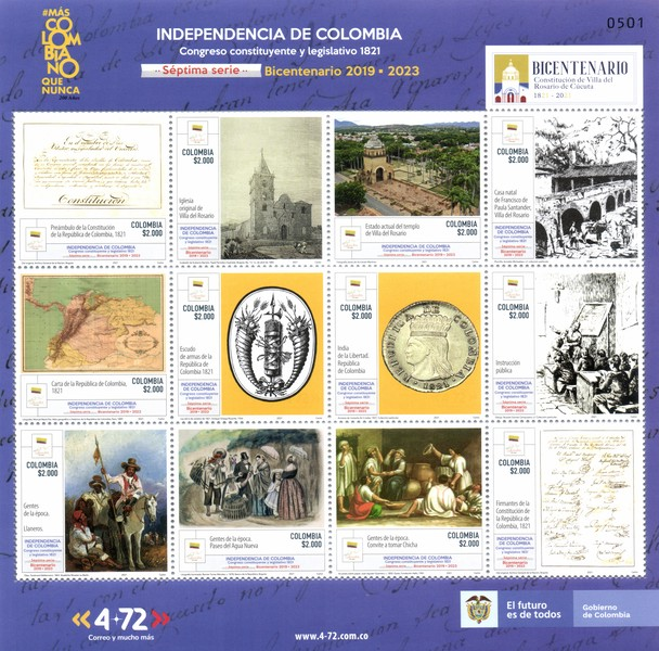 [Independence of Colombia - The 200th Anniversary of the Constituent and Legislative Congress of 1821, type ]