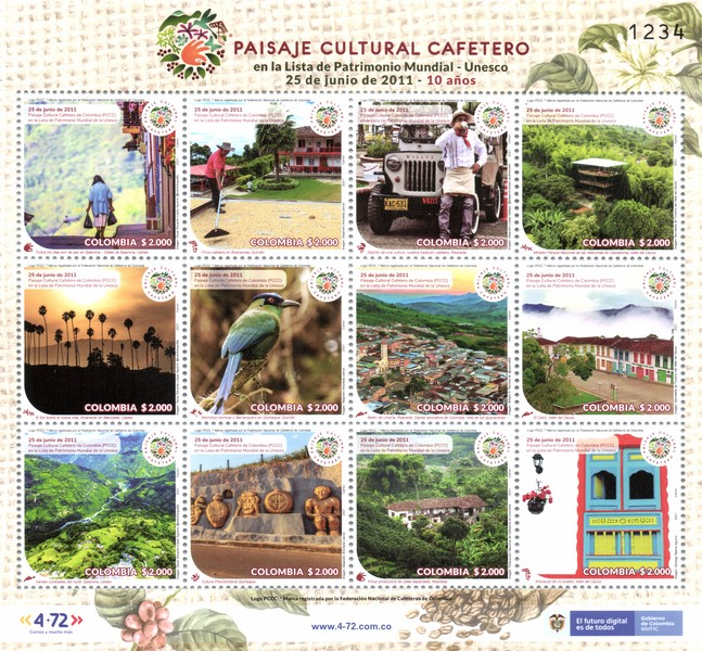[UNESCO World Heritage - The Coffee Cultural Landscape of Colombia - 10th Year of Inclusion, type ]