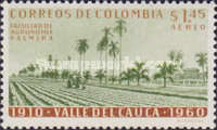 [Airmail - The 50th Anniversary of Valle del Cauca, Typ ABK]