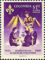 [Airmail - The 30th Anniversary of Colombian Boy Scouts and 25th Anniversary of Colombian Girl Scouts, Typ ACS2]