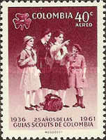 [Airmail - The 30th Anniversary of Colombian Boy Scouts and 25th Anniversary of Colombian Girl Scouts, Typ ACT]