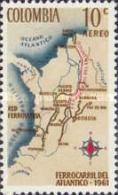[Airmail - Completion of Colombia Atlantic Railway, Typ ACW1]