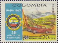 [Airmail - The 25th Anniversary of Colombian Automobile Club, Typ AEB]