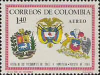 [Airmail - Visits of Chilean and Venezuelan Presidents, Typ AEQ2]