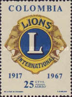 [Airmail - The 50th Anniversary of Lions International, Typ AFK1]