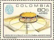[Airmail - Pope Paul's Visit to Colombia, Typ AGK]