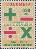 [Airmail - The 1st Congress for Electronic Data Processing and 100th Anniversary of National University, Bogota, Typ AGO]