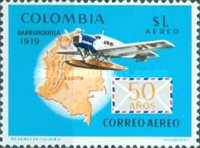 [Airmail - The 50th Anniversary of 1st Colombian Airmail Flight, Typ AGU]