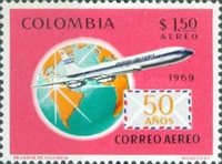 [Airmail - The 50th Anniversary of 1st Colombian Airmail Flight, Typ AGV]