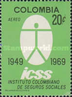 [Airmail - The 20th Anniversary of Colombian Social Security Institute, Typ AHB]