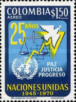 [Airmail - The 25th Anniversary of United Nations, Typ AHO]