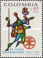 [Airmail - The 6th Pan-American Games, Cali, Typ AHY]
